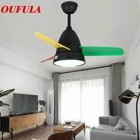 oulala modern ceiling fan lights lamps contemporary fan lighting with remote control for dining room bedroom restaurant