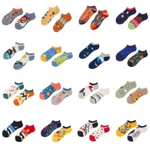ฤดูใบไม้ผลิและฤดูร้อนผ้าฝ้าย Casual ถุงเท้าผู้หญิงแฟชั่นการออกแบบการ์ตูนที่มีสีสันพรรคธุรกิ...