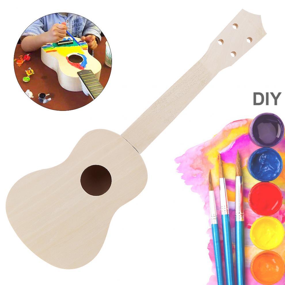 Ukulele 21 Inch Ukulele DIY Kit Basswood Soprano Hawaii Guitar Handwork Painting with Rosewood Fingerboard enlarge