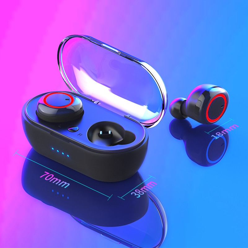 Bluetooth Headphones With Microphone Charging Case Wireless Earphones HD Bass Sound for Laptop Smartphone enlarge