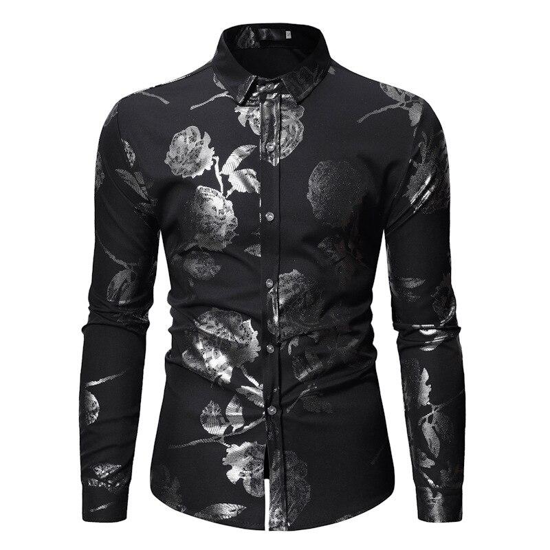 European Size Mens Bronzing Shirt, Long-sleeved Large Men Clothing, Shirts , for