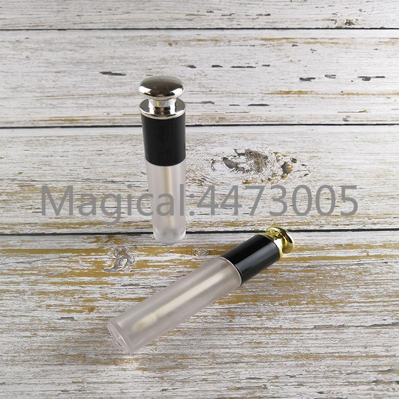 10/30/50 Uds. Envase de aceite de plástico transparente mate para pintura de labios, tubo de brillo de labios para herramientas de maquillaje al vacío helado, botella de plata/oro