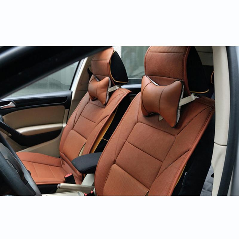 PVC Leather Cushion Workmanship Car Headrest Pillow Strength Elastic Neck Pillow Seat Cover Health C