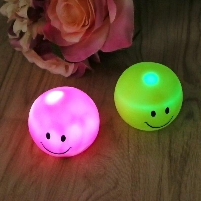 Led vinil sorridente rosto sono mesa quarto bebê luz da noite para crianças alimentação lâmpada decoração