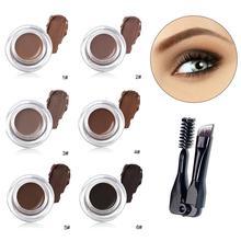 Eyebrow Gel Cream Waterproof Makeup Set with Brush Long Lasting for Women