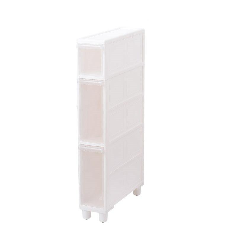 14CM quilted storage cabinet refrigerator rack narrow slit kitchen plastic drawer   toilet bathroom shelf