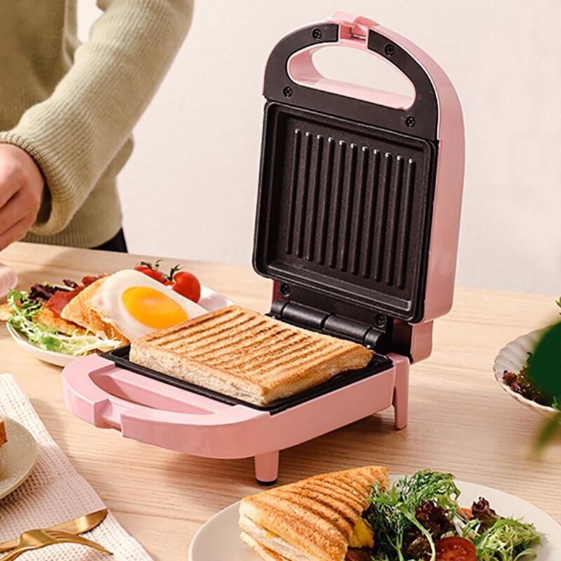 Sandwichera eléctrica multifuncional, máquina de desayuno de 650W, para huevos, pasteles, Sandwichera,...