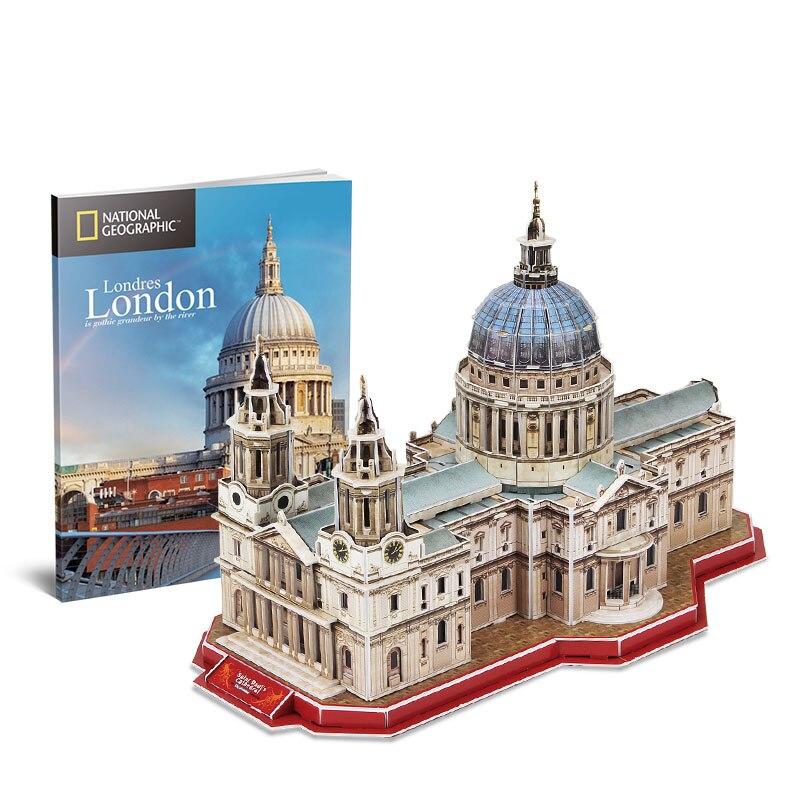 مباني كلاسيكية مشهورة في العالم ، نموذج كاتدرائية سانت بول ، ألعاب ألغاز ثلاثية الأبعاد ، طوب إبداعي DIY للأطفال ، هدية