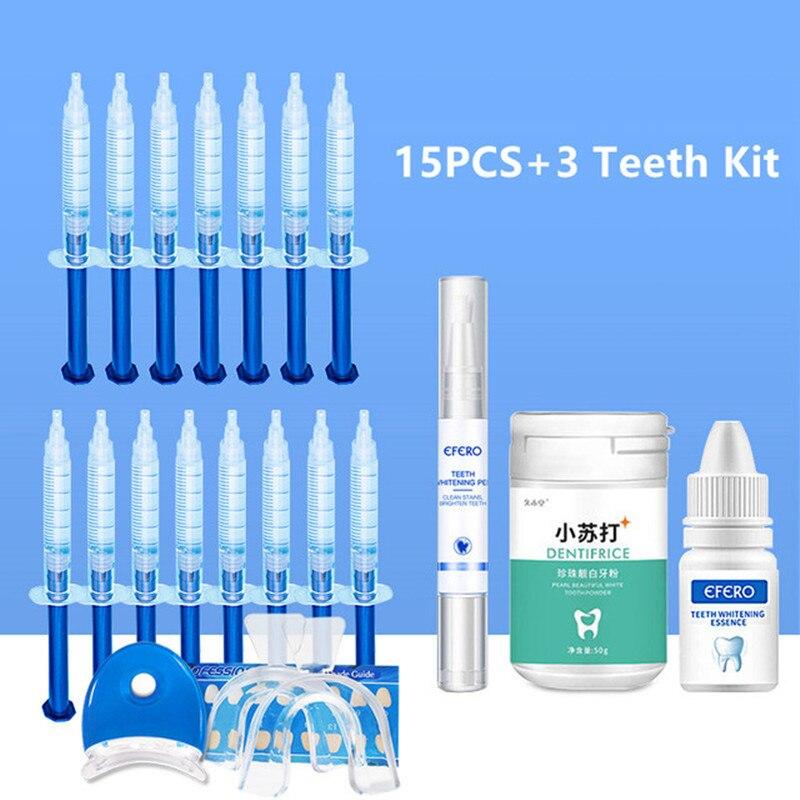 Teeth Whitening Gel Dental Peroxide Teeth Whitening Pen Essence Powder Kit Oral Care Brightening Dental