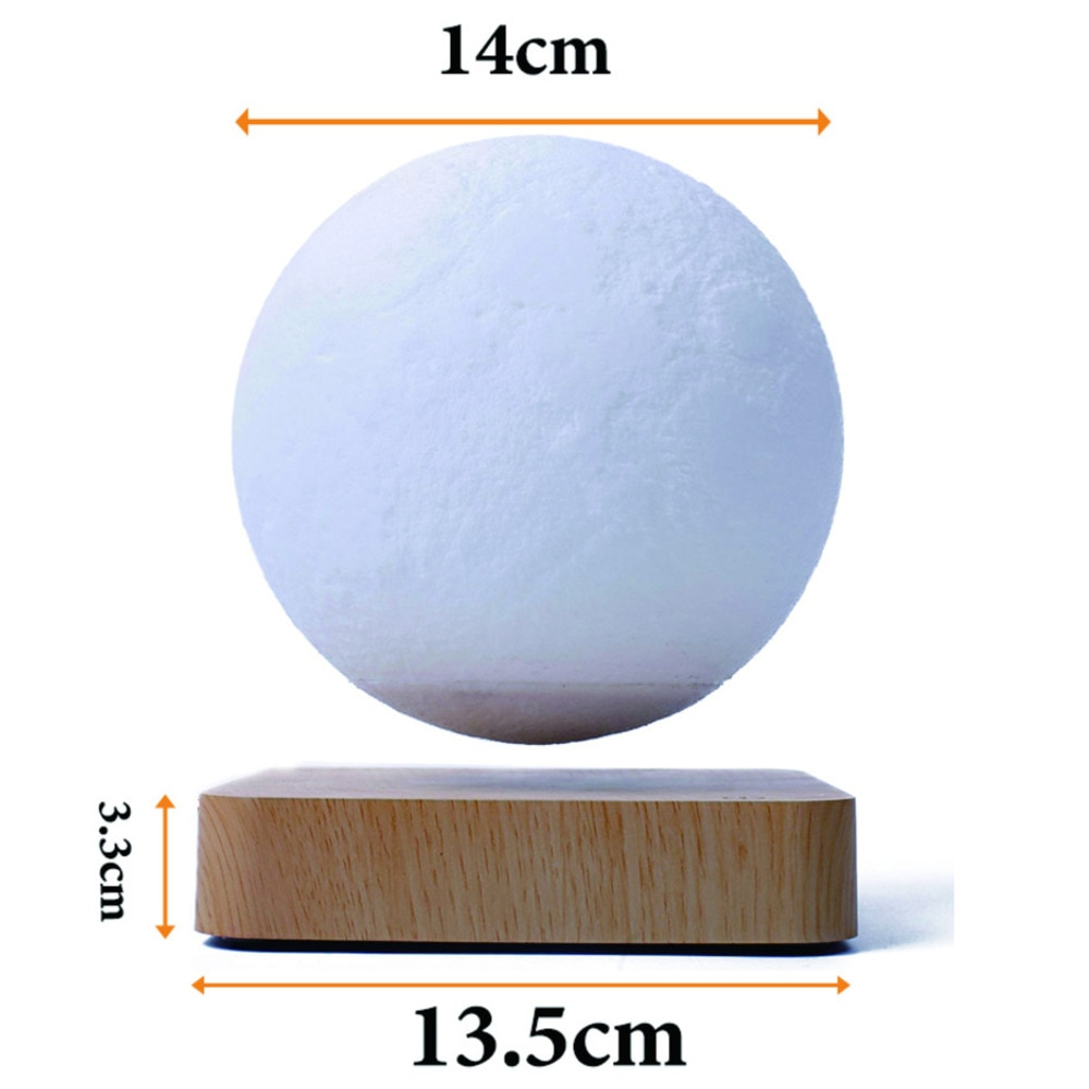 Creative 3D Magnetic Levitation Moon Lamp Night Light 14cm Touch Rotating  Led Moon Floating Lamp Home Decoration Holiday Gifts enlarge