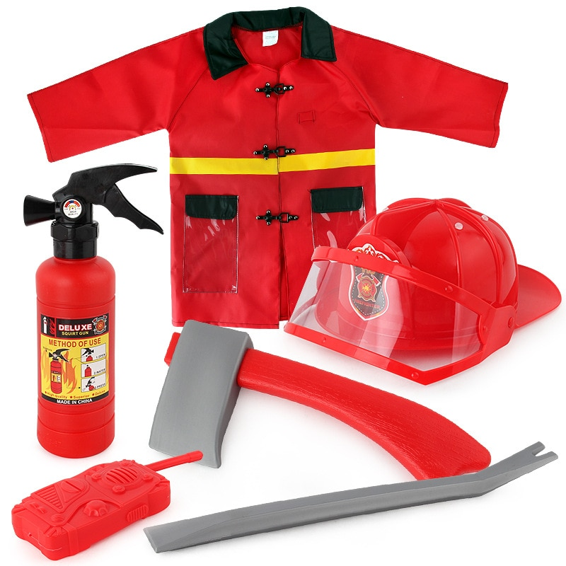 Детская игрушка для ролевых игр, набор инструментов для борьбы, детский пожарный, игрушка для косплея, пожарный платок, ролевые игры, костюм,...