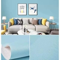 solid color self adhesive wallpaper roll peel and stick waterproof wall mural removable wall sticker for furniture room decor
