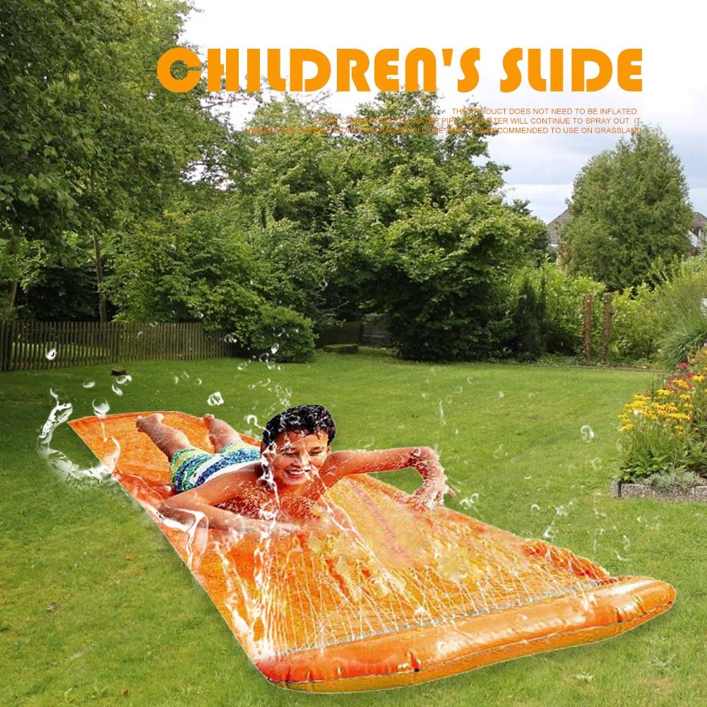 Надувные водные горки, детские летние горки для горки, газона, водные игрушки, для улицы, сада, гоночный газон, водная горка с распылителем