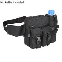 Hommes taille sac tactique taille Pack poche avec porte-bouteille deau étanche 800D Nylon ceinture Bum sac taille sac