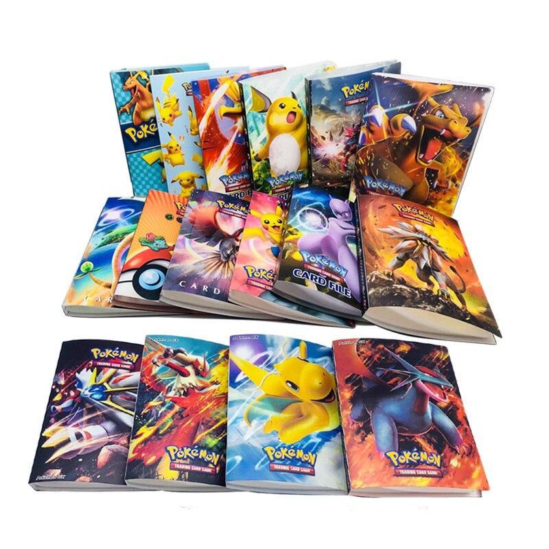 240 Uds titular álbum juguetes para regalo Pokemon tarjetas marcadores de libros libro álbum Top cargada lista jugando a las cartas