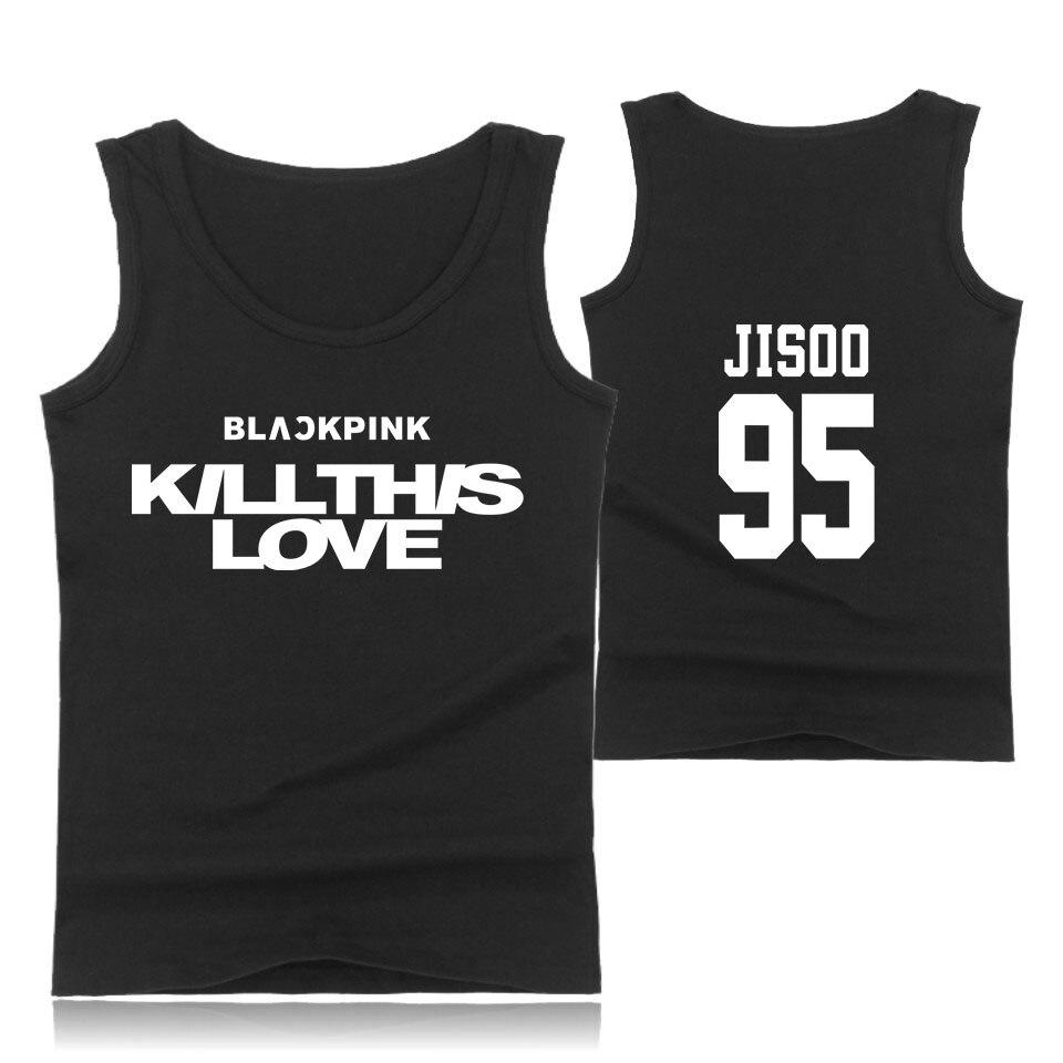 BLACK PINK Sleeveless Shirts Tank Top Unisex Fitness Summer Shirts Mens Women Singlet Bodybuilding Workout Gym Vest Tops