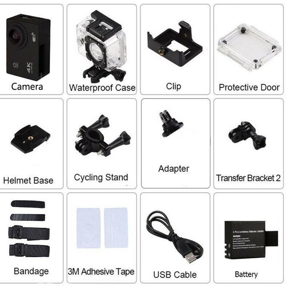 Camera gray WIFI ULTRA HD 4K Sport controller optional GoPro type 2