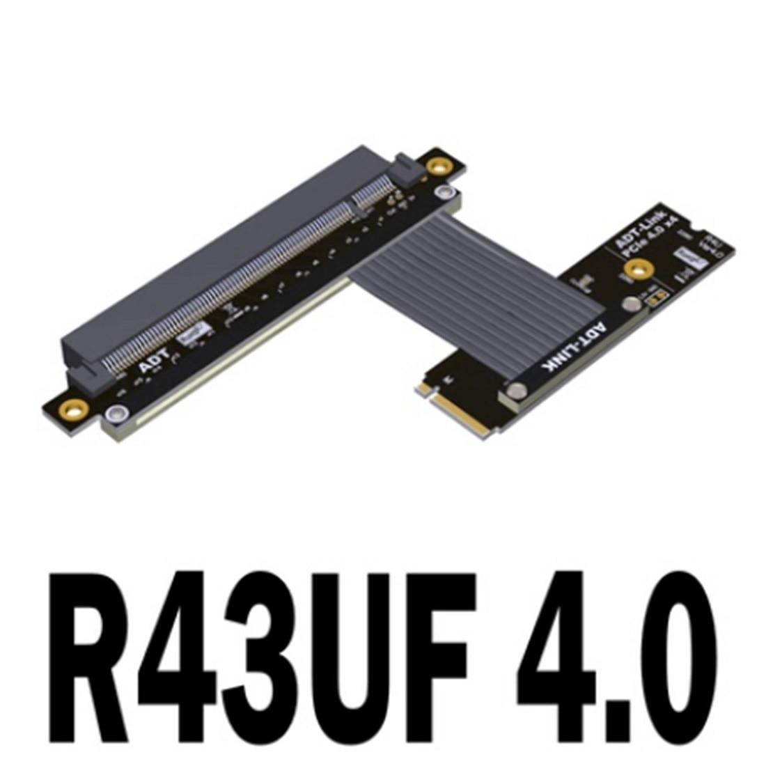 PCIE 4.0x16 كابل Riser PCI Express موسع 64Gbps ل NVMe M.2 SSD GPU بطاقة الرسومات الفيديو مع كابل الطاقة Sata R43U سلسلة