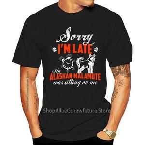 Moda Camisa Dos Homens T Meu Malamute Do Alasca Estava Sentada Em Cima De Mim Camiseta 2021 Leisure Fashion T-shirt 100% Cotton