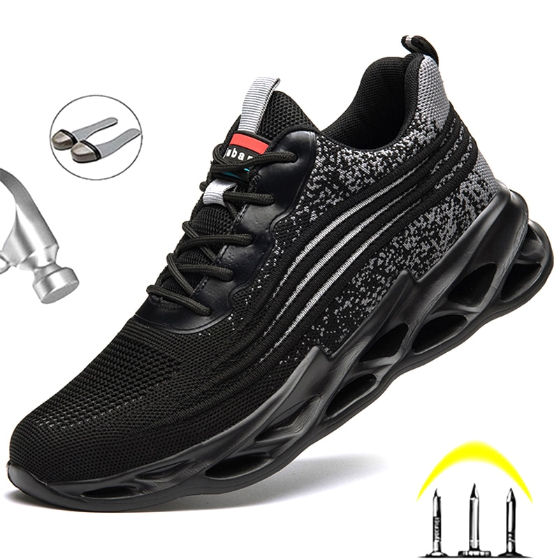 Work Boots Safety Steel Toe Shoes Men Sneakers Indestructible For Cap Male