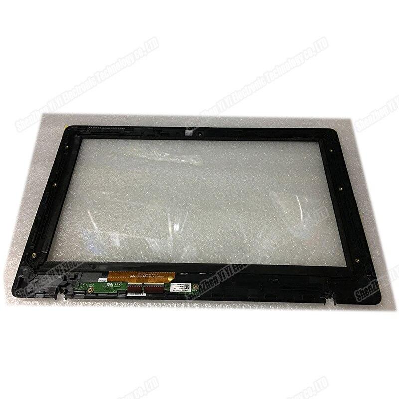 شاشة تعمل باللمس محول الأرقام الزجاج مع الإطار الأسود لأجهزة الكمبيوتر المحمول Asus Vivobook X200MA X200CA X200LA