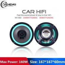 Universal Car HiFi Vehicle Door Full Range Frequency Auto Audio Coaxial Black 6.5 Inch Automobile Automotive Loudspeaker