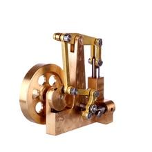 4.7X2.9X4.6CM Balance Type Mini pur cuivre moteur à vapeur modèle sans chaudière coffret cadeau créatif