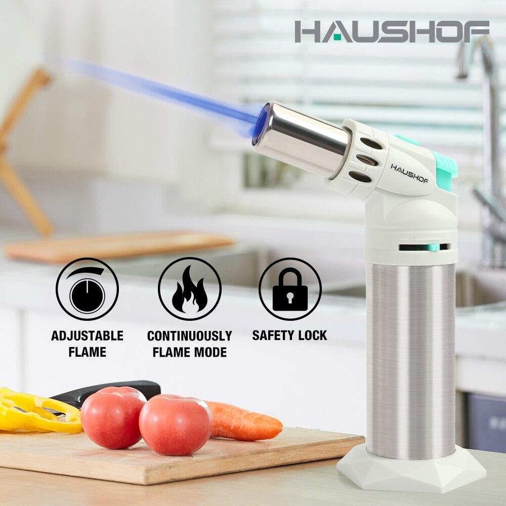Многоразовый кухонный фонарь HAUSHOF, Регулируемое пламя для самостоятельной сборки, крем-брюле, барбекю, выпечки на Газу, не входит в комплект