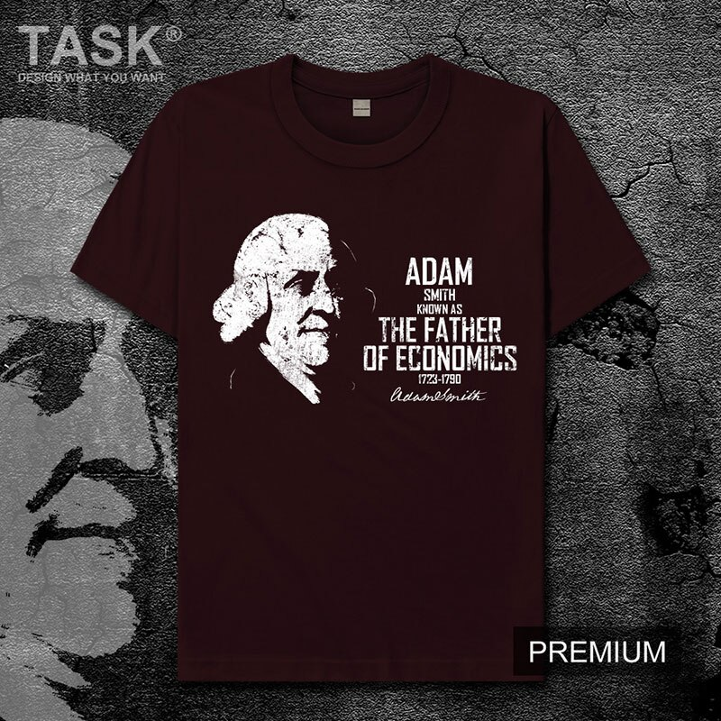 Celebridade adam smith reino unido riqueza das nações sentimento moral economia clássica novo topos t camisa dos homens de manga curta 01
