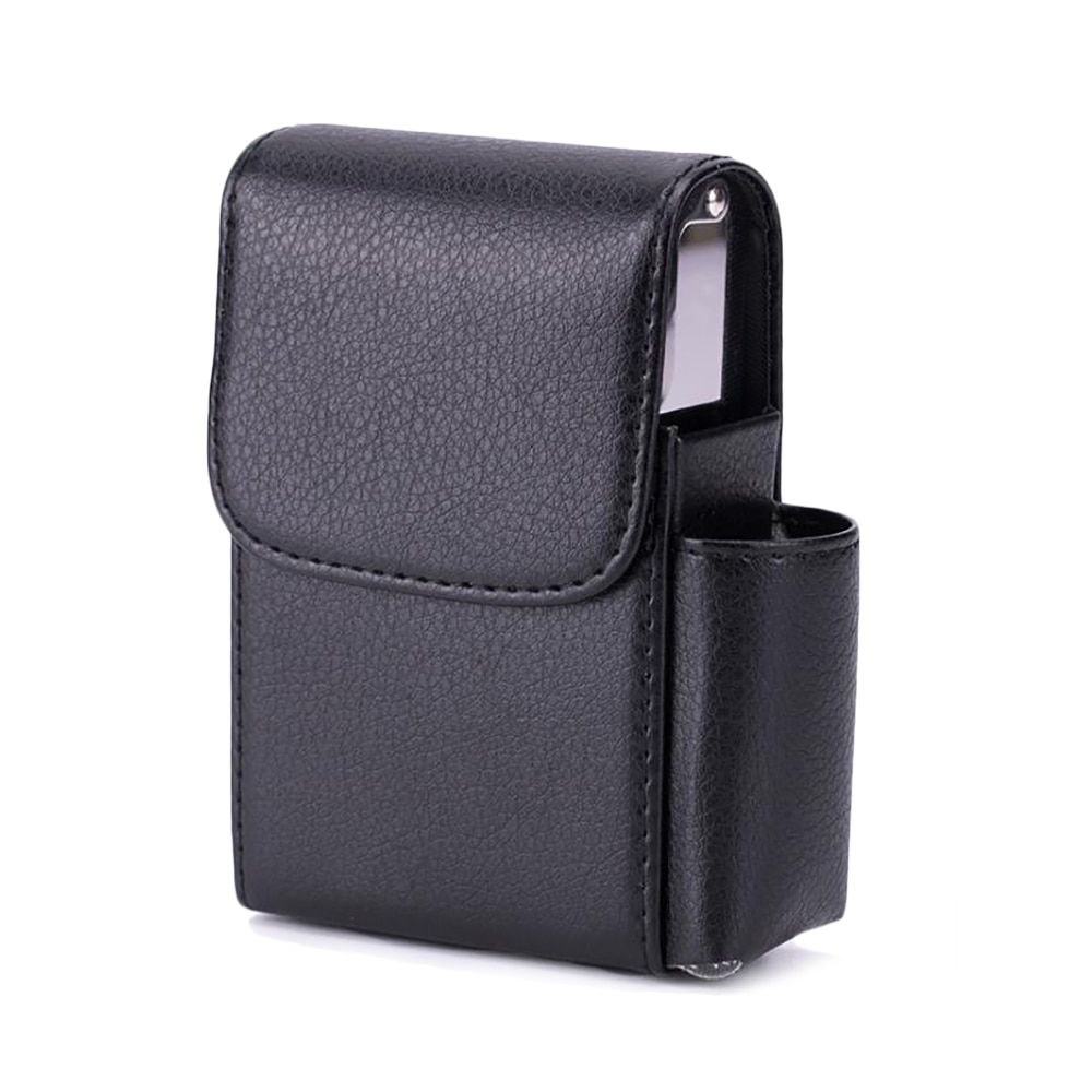 Cigarette Case Lighter Holder PU Leather Smoker Smoke Tools Cigar Tobacco Case Container Men Smoking