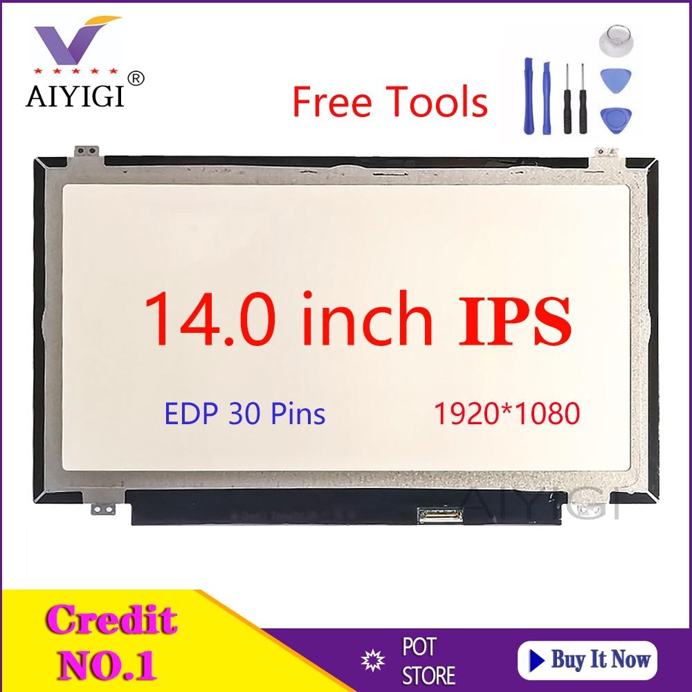 14 pulgadas IPS ordenador portátil pantalla LED B140HAN01.2 B140HAN01.1 B140HAN01.3 para Lenovo Y40 E440 T450 T440P T440S pantalla 1920*1080 30 pines