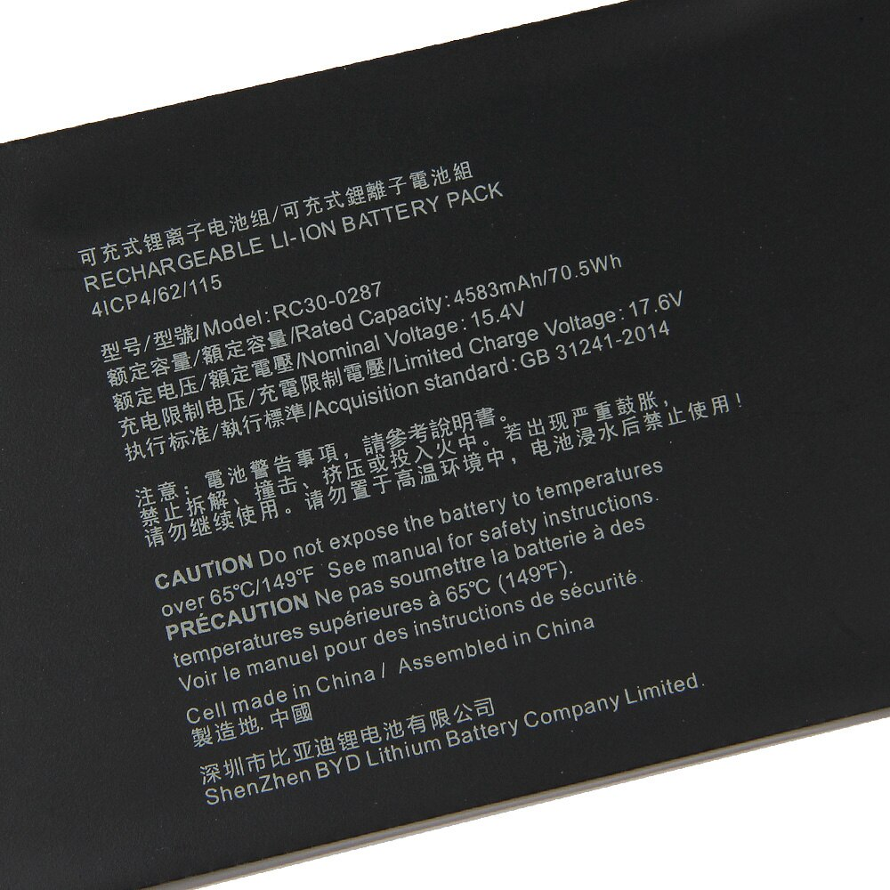Replacement Laptop Battery RC30-0287 For Razer Blade Pro17 2019 RZ09-03297 RTX 2080 Max-Q 4583mAh Genuine Battery + Tool enlarge
