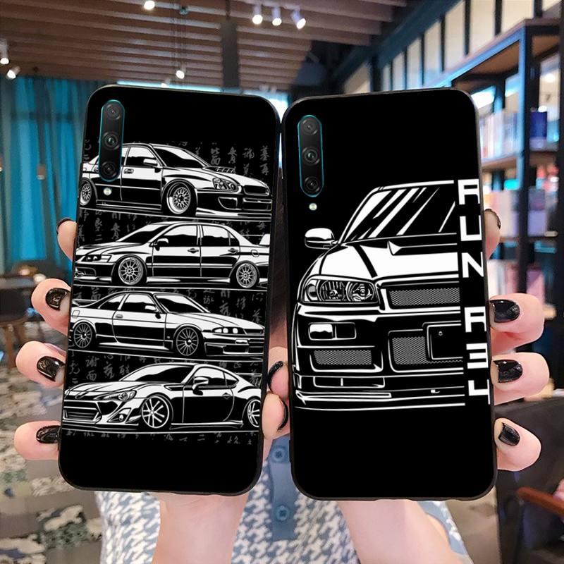 HPCHCJHM Hot Drift Cars Auto JDM foto personalizada, funda de teléfono suave para Huawei P40 P30 P20 lite Pro Mate 20 Pro P Smart 2019 prime
