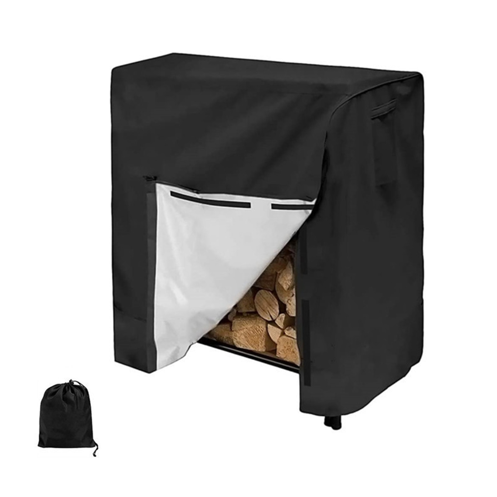Firewood Rack Cover Waterproof Log Holder Cover Outdoor Heavy Duty Weather Resistant 420D Firewood Tarp For Outdoor Incredible