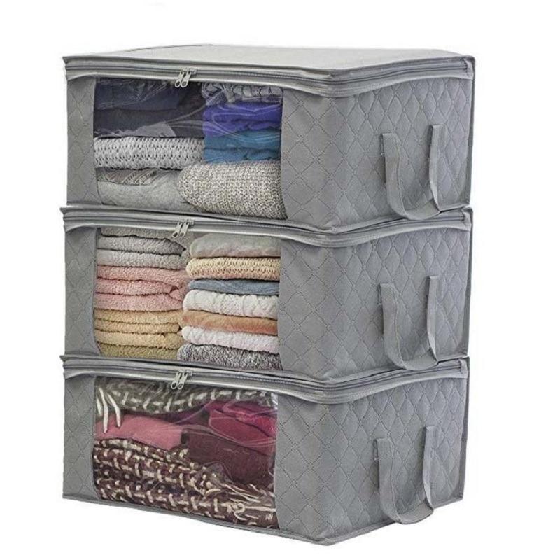 غير المنسوجة صندوق تخزين ملابس حقيبة للطي لحاف الغبار واقية صندوق كابين درج خزانات ملابس منظمة المنزل والتخزين
