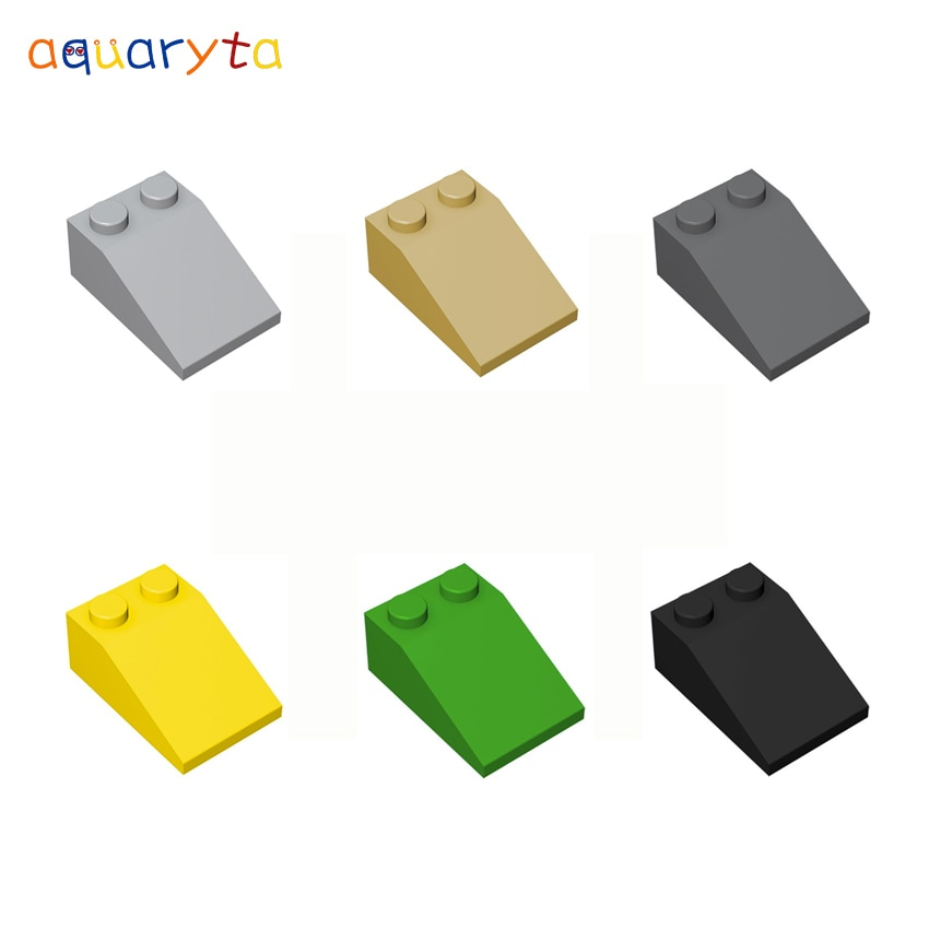 Aquaryta 40 шт. 3x2 наклонная крыша, кирпичи, строительные блоки, детали, совместимые с 3298 строительными блоками «сделай сам», детские игрушки для п...