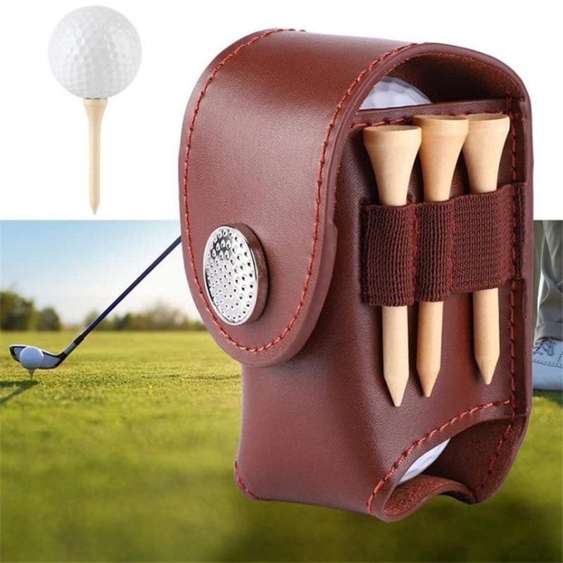 Сумка для мяча для гольфа, портативный держатель для мяча для гольфа, поясная сумка, кожаная крутая сумка для мяча для гольфа, спортивный акс...