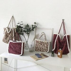 NEW Lamb Wool Chain Women Shoulder Bags sac a main femme Women's Designer Handbag flower Messenger Ladies Crossbody Bag