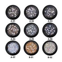 Bricolage Nail Art roue pointe cristal paillettes strass 3D Nail Art décoration blanc AB 19 couleurs acrylique diamant perceuse