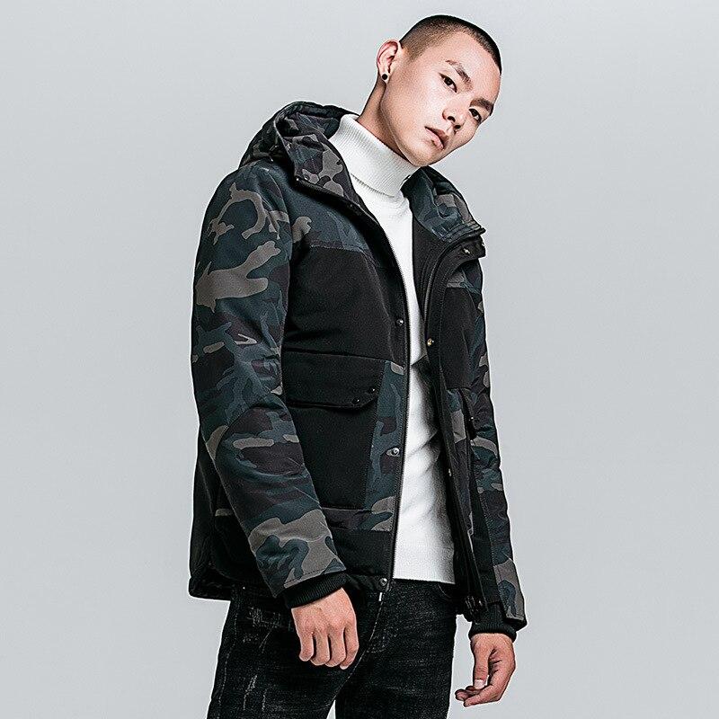 Зимняя камуфляжная хлопковая куртка, Мужская хлопковая одежда, Толстая теплая хлопковая куртка, молодежная повседневная мужская хлопковая...