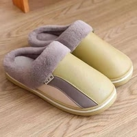 home slipper for women high quality winter plush keep warm fluffy indoor shoes memory foam soft non slip pu short plush