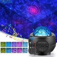 USB светодиодный звёздное небо проектор Bluetooth ночной Светильник Романтический Красочные звёздное небо проекционной лампы с Дистанционный п...