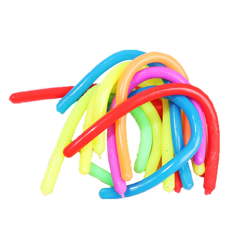 Эластичная лапша из термопластичной резины, игрушки для снятия стресса, мягкая лапша, антистресс для детей и взрослых, игрушка-антистресс, с...