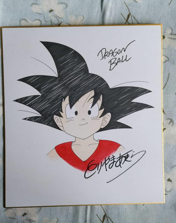hand drawn signed Toriyama Akira autographed Shikishi Card Board Dragon Ball 27*24 cm 0320B