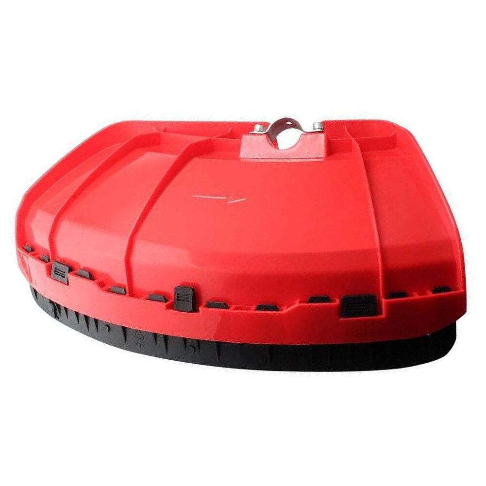 Aparador de Grama Escudo com Placa de Braçadeira Instalar para 26 28mm de Diâmetro. Proteção Vermelha Defletor Escova Cortador Guarda Jardim Ferramentas Fácil Eixo