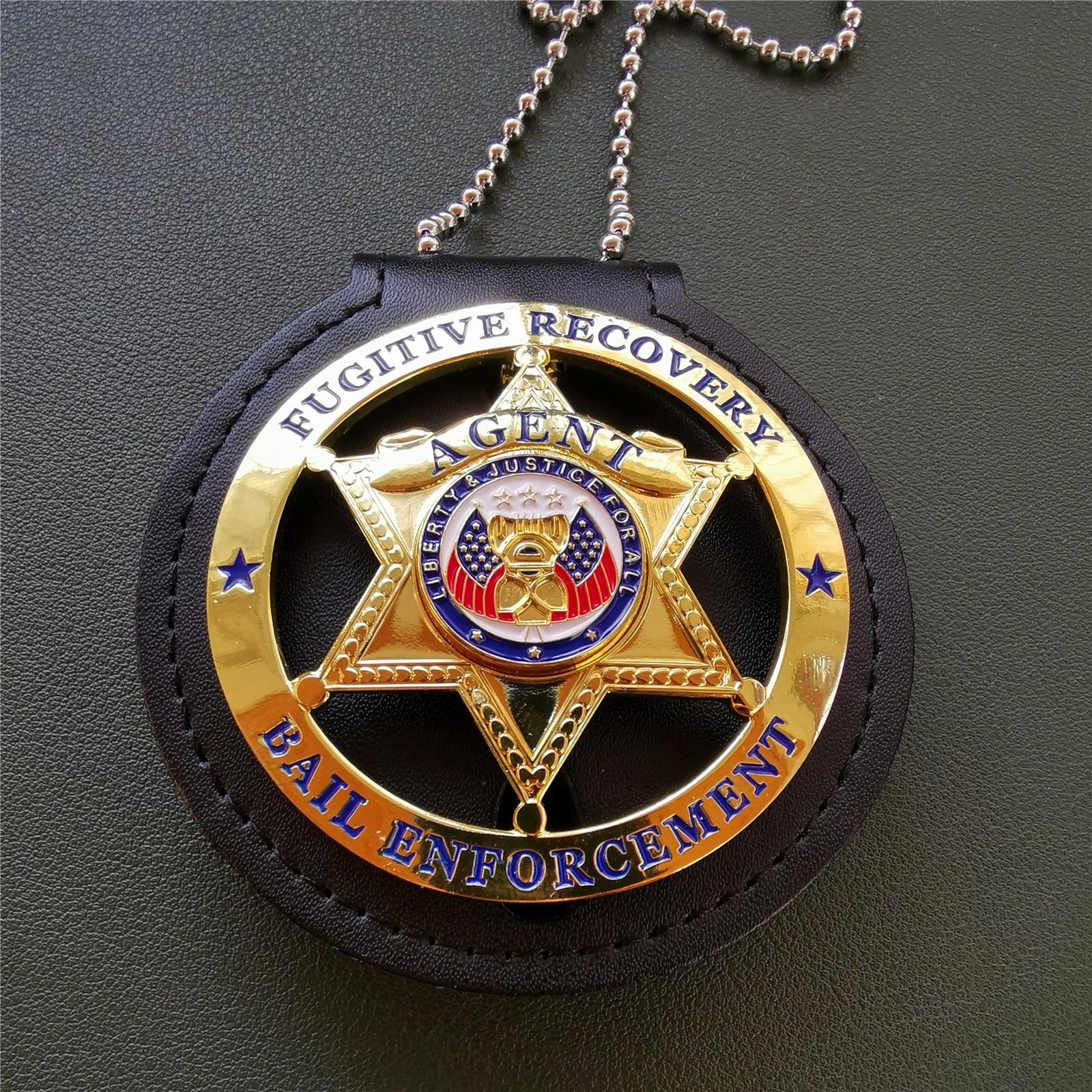 distintivo-1-1-di-applicazione-di-legge-della-cauzione-di-recupero-di-crimine-americano
