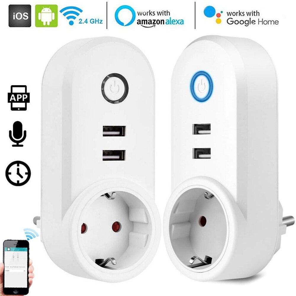 Smart Home WiFi Socket Smart WiFi Plug App Remote Control Socket Working with Alexa Google Timing Energy Saving Smart Delay D30