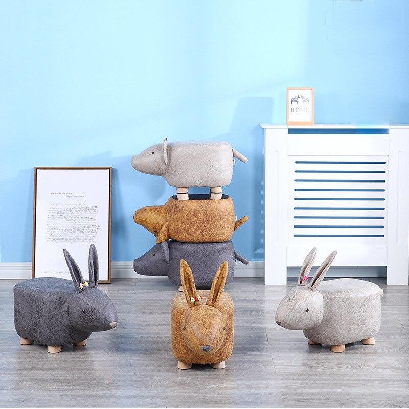 Taburetes de sofá creativos para niños, sillas de comedor de madera con...