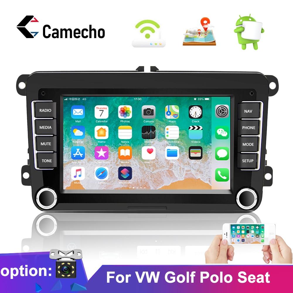Camecho Android8.1 2 din Radio GPS para coche reproductor Multimedia para VW/Volkswagen/Golf/Polo/Tiguan/Passat/b7/b6/asiento/leon/Skoda/Octavia