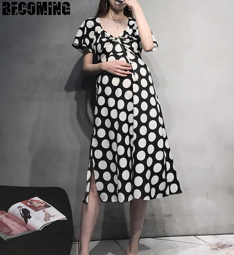 Big Size Maternity Dress Pregnant Summer Dress Pregnancy Clothes Maternity Dress Pregnent Clothes Plus Size Maternity Shirt enlarge
